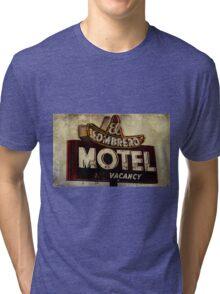 Vintage El Sombrero Motel Sign, Salinas, CA. Tri-blend T-Shirt