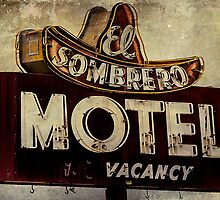 Vintage El Sombrero Motel Sign, Salinas, CA. by Honey Malek