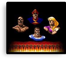 Street Fighter 2 End Scene Canvas Print