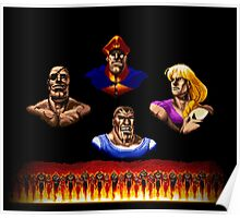 Street Fighter 2 End Scene Poster