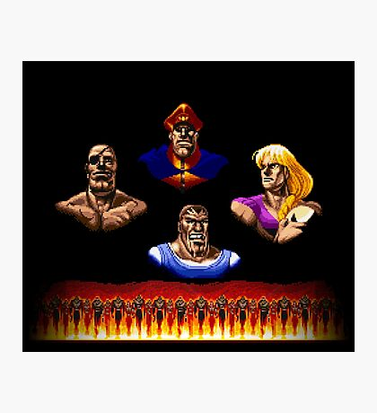 Street Fighter 2 End Scene Photographic Print