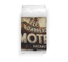 Vintage El Sombrero Motel Sign, Salinas, CA. Duvet Cover