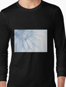 Colorful watercolor of gentle flower with large petals Long Sleeve T-Shirt