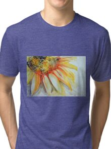 Colorful watercolor of gentle flower with large petals Tri-blend T-Shirt