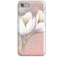 White and Purple Crocus iPhone Case/Skin