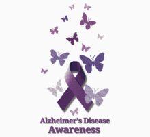 Purple Awareness Ribbon: Alzheimer's Disease Kids Tee
