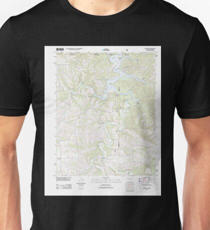 USGS TOPO Map Arkansas AR Denver 20120105 TM Unisex T-Shirt