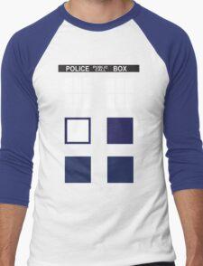 Blue public call Men's Baseball ¾ T-Shirt