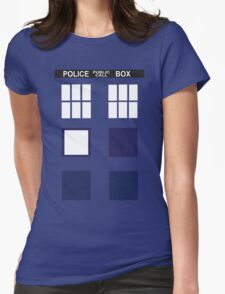 Blue public call Womens Fitted T-Shirt
