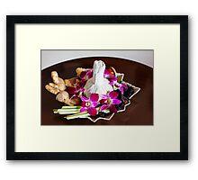 Thai spa arrangement for massage Framed Print