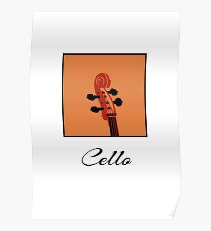 Cello Scroll VRS2 Poster