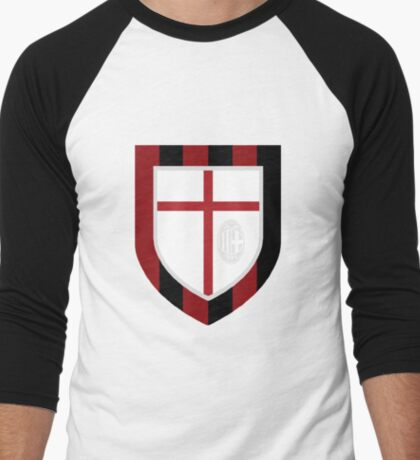 AC Milan Crest Men's Baseball ¾ T-Shirt
