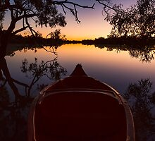 Kayak at Dawn - Kilcowera Station by Malcolm Katon