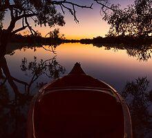 Kayak at Dawn - Kilcowera Station by Malcolm Katon