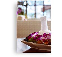 Thai spa massage decor in an interior Canvas Print