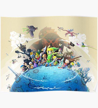 The Legend of Zelda Wind Waker : Characters Poster