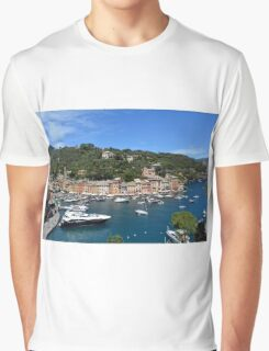 6 August 2016 Natural scenery with sea and yachts from Portofino vacation resort, an Italian fishing village, Genoa province, Italy. Graphic T-Shirt