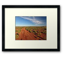 Red Dirt Road - Kilcowera Station Framed Print