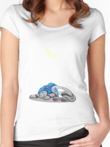 Derpkitty sleeping Women's Fitted Scoop T-Shirt