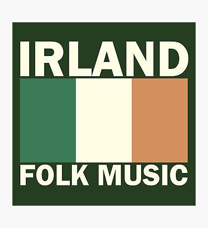 Irland flag folk music Photographic Print