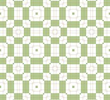 Mint Green & White Geometric Abstract Design by Mercury McCutcheon