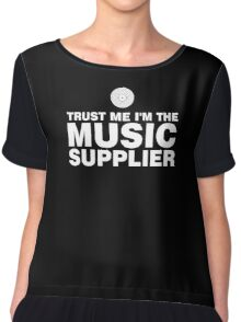 Vinyl music supplier (white) Chiffon Top