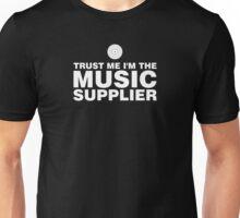Vinyl music supplier (white) Unisex T-Shirt