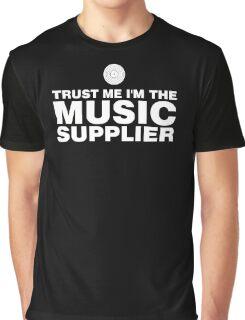 Vinyl music supplier (white) Graphic T-Shirt