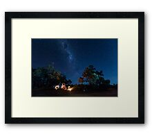 Camping under the Stars - Kilcowera Station Framed Print