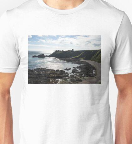 Dunnottar Castle Scotland Low Tide Unisex T-Shirt