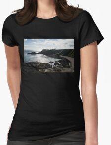 Dunnottar Castle Scotland Low Tide Womens Fitted T-Shirt