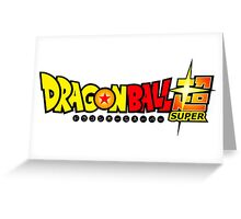 Dragon Ball Super Logo Title Design Greeting Card