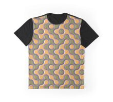 3D ORANGE AND BLUE WAVES Graphic T-Shirt