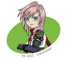 Final Fantasy XIII - Lightning sticker by littlebearart