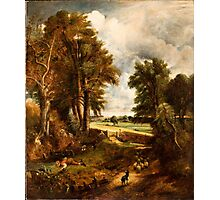 BRITISH SCHOOL (19th Century) Extensive Landscape with Boy Drinking Water from a Stream, circa Photographic Print