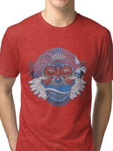 Colorful Monkey Tri-blend T-Shirt