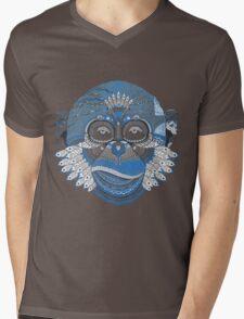 Colorful Monkey Mens V-Neck T-Shirt