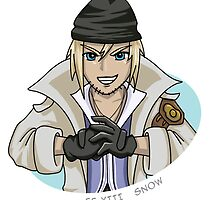 Final Fantasy XIII - Snow sticker by littlebearart