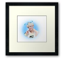 Hoshi Seventeen - Blue Cutie Framed Print