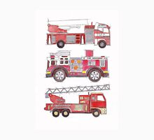 Three fire engines Unisex T-Shirt