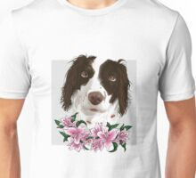 Springer Spaniel with Lilies Unisex T-Shirt