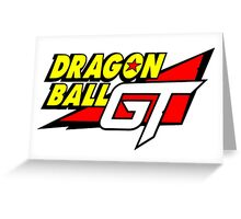 Dragon Ball GT Logo Title Design Greeting Card