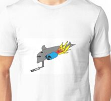 Dolphin with Jet Engines and Machine Guns Unisex T-Shirt