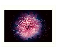 Abstract flower background Art Print