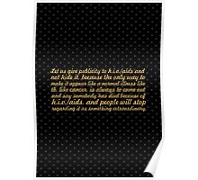 """Let us give publicity to... """"Nelson Mandela"""" Inspirational Quote Poster"""