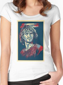 patrick swayze - backoff warchild Women's Fitted Scoop T-Shirt