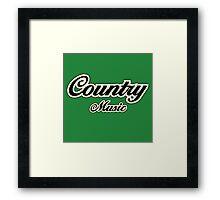 Vintage country music Framed Print