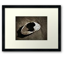Empty Crab Shell - Toned Framed Print