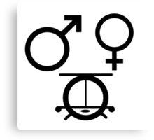 3 genders Canvas Print