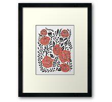 Orange Garden Framed Print
